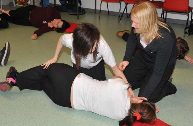 Teaching recovery position
