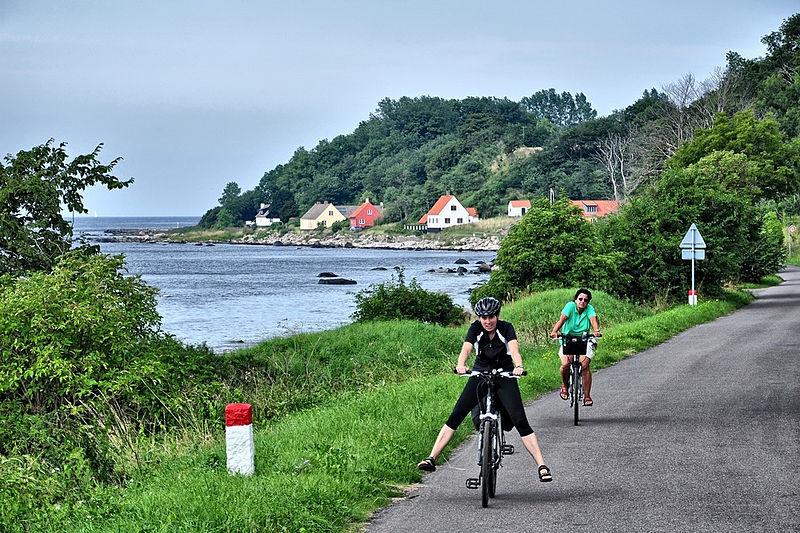 Cyclists Having Fun