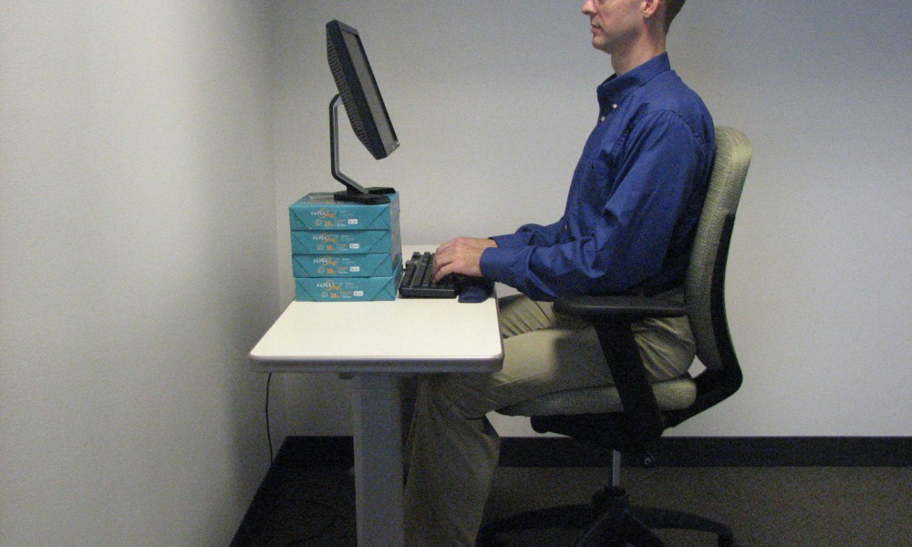 Correct Sitting Position At A Desktop Computer