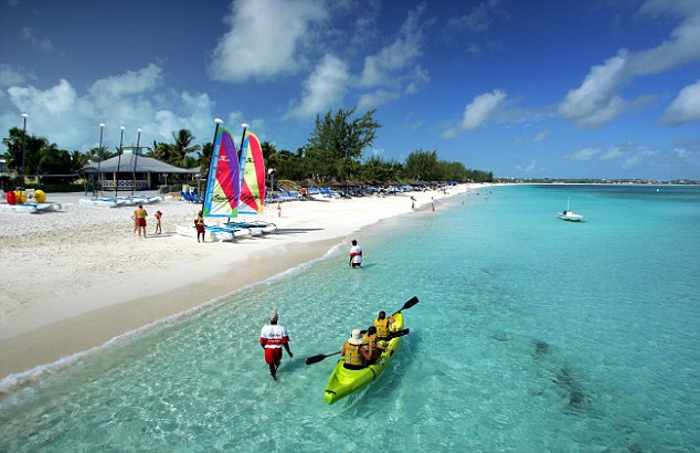 Watersports activity at the Beaches family resort on the island of Providenciales in the Turks and Caicos Islands