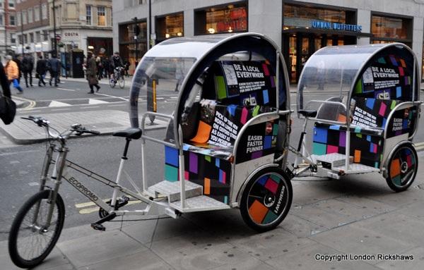 Hire rickshaws in london