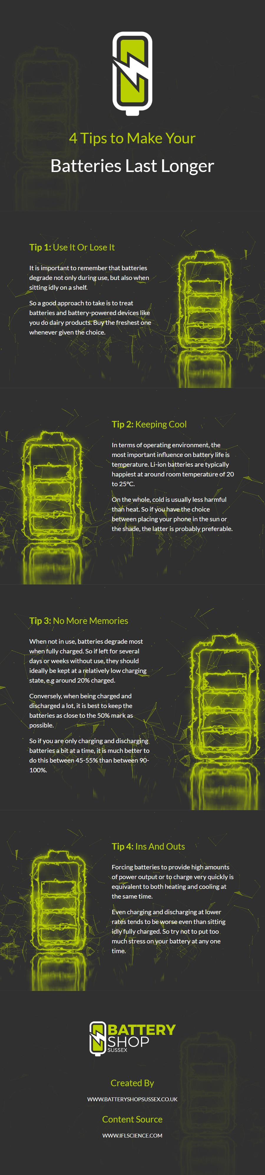 4 Tips to Make Your Batteries Last Longer