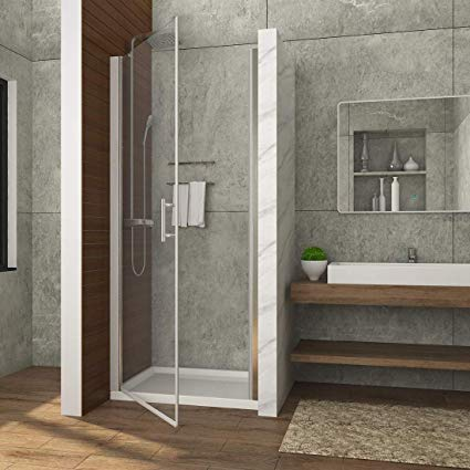 hinged glass shower door